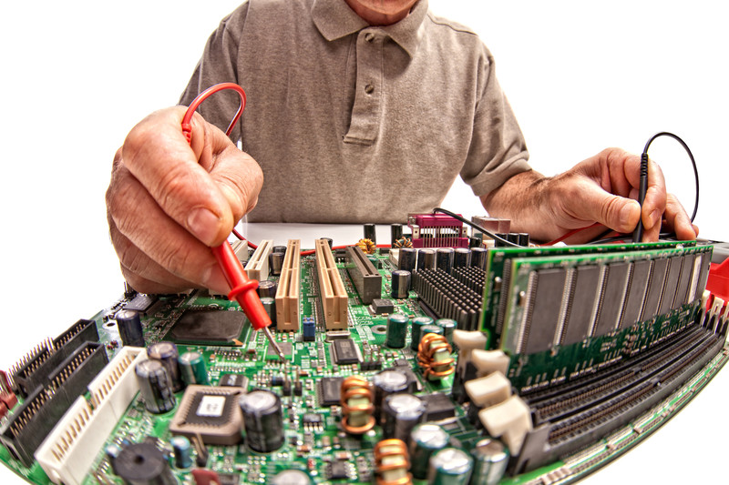 working on a computer